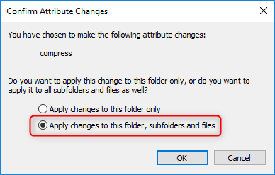 apply changes to the folder