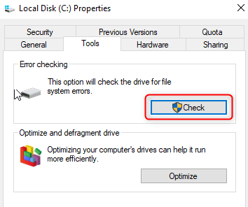 check disk from my computer