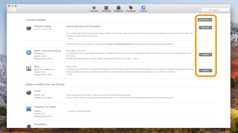 check macos update in mac