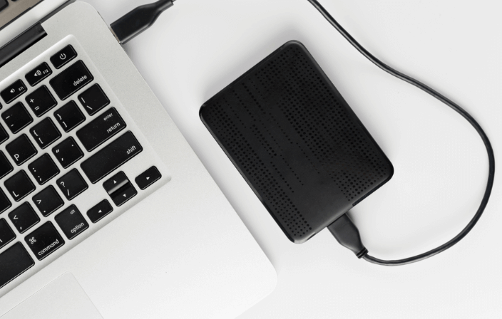 connect external hard drive to mac