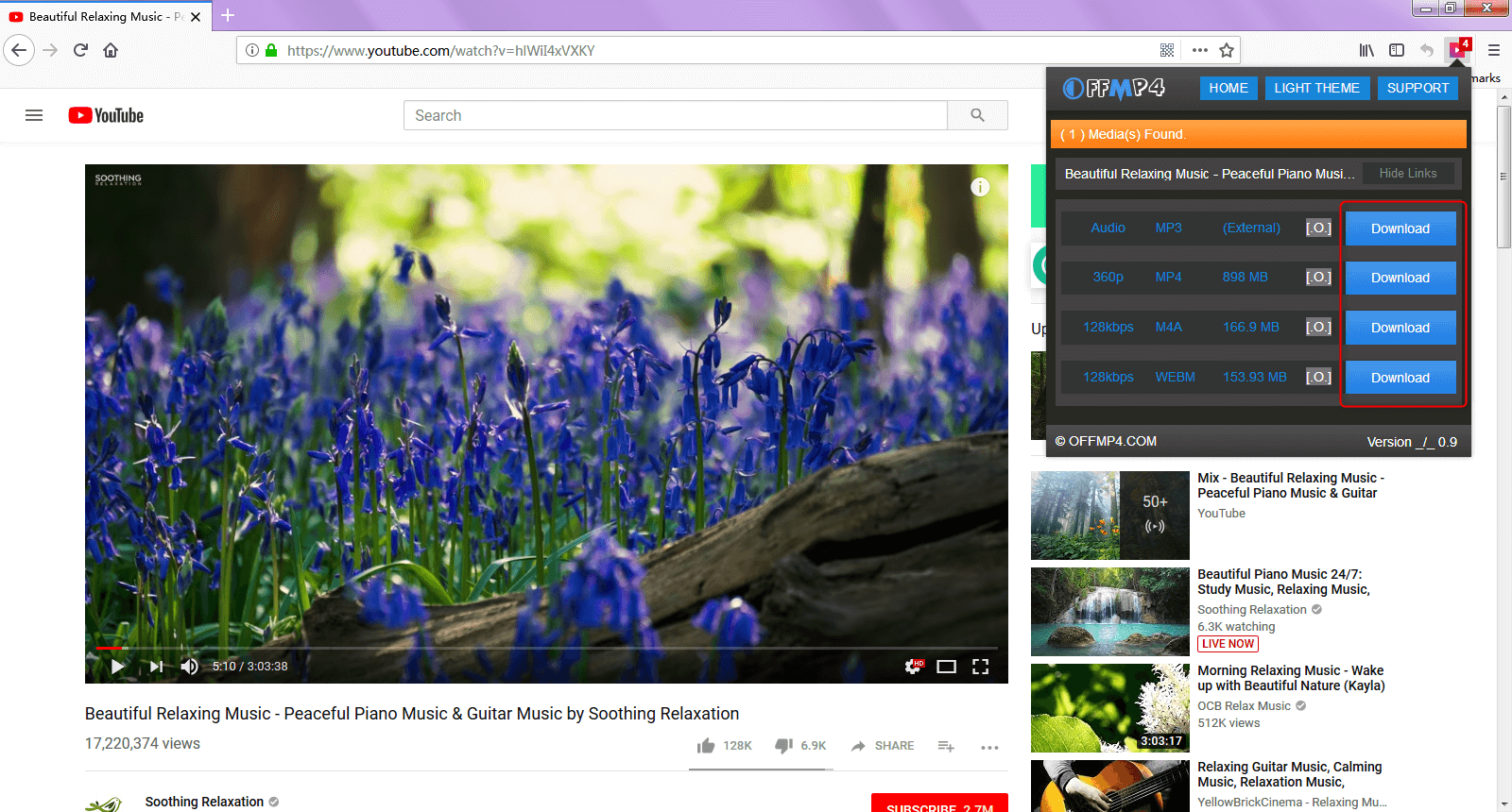 dowload video in firefox