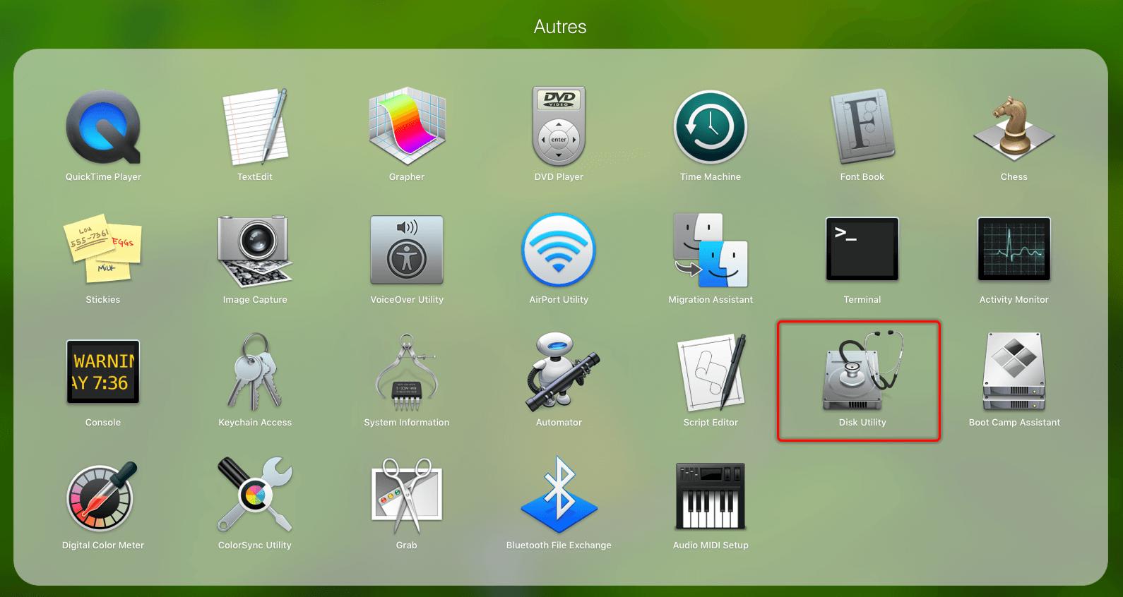 find mac disk utility