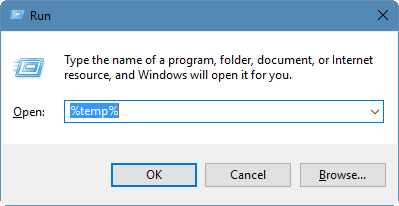 open command prompt to delete files