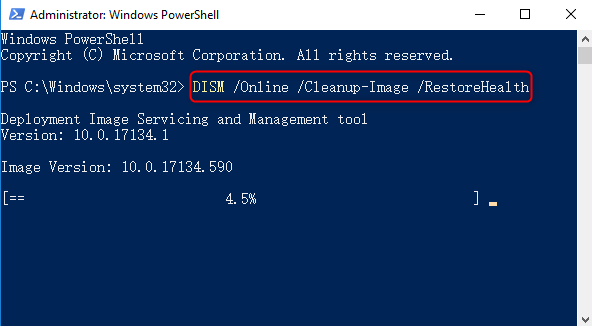 DISM Restorehealth in Powershell