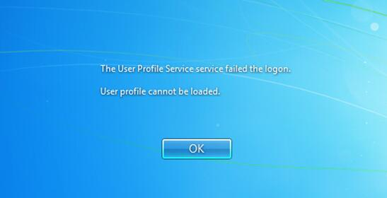 Windows 7 user profile service failed the logon