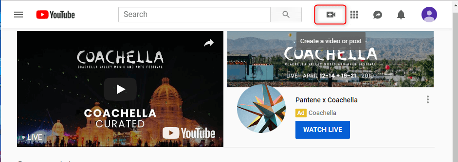 click the button to add video on youtube