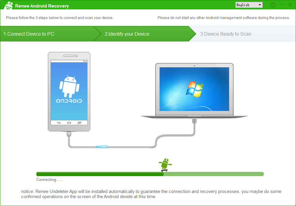 android phone is connecting to the computer
