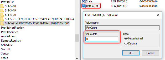 select refcount