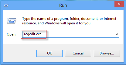run regedit.exe