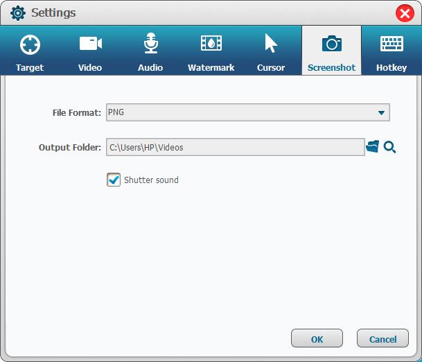 select screenshot in Renee Screen Recorder