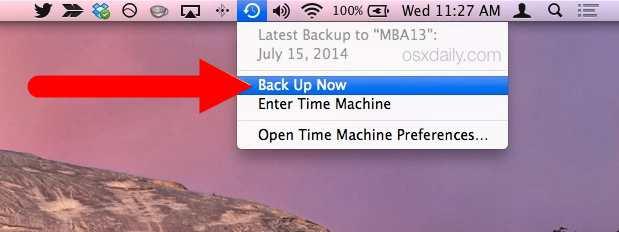 Back up MacBook manually