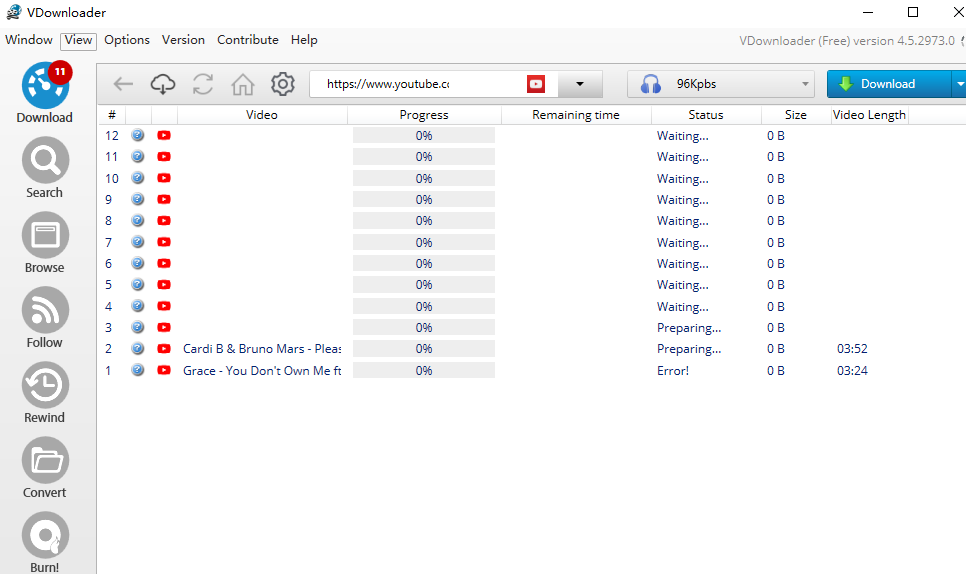 check and wait for downloading youtube playlist