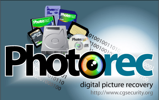 use photorec to recover deleted photos from sd card