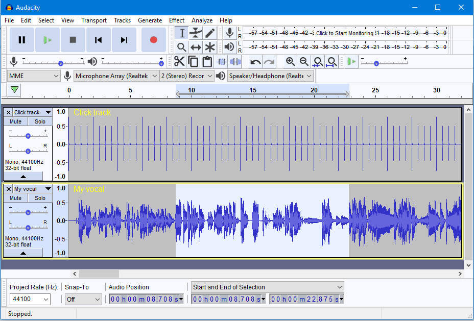 music mixing software audacity