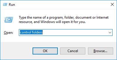 type control folders in run