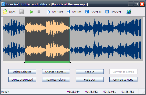 use free mp3 cutter and editor to edit audio files