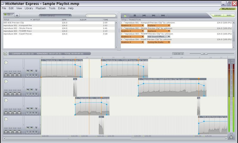 music mixing software mixmeister express