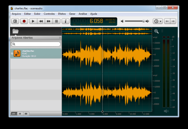 edit mp3 files with ocenaudio
