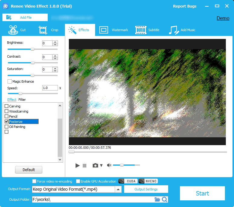 add special effects in renee video editor