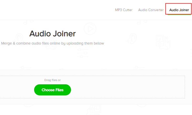 go to audio joiner