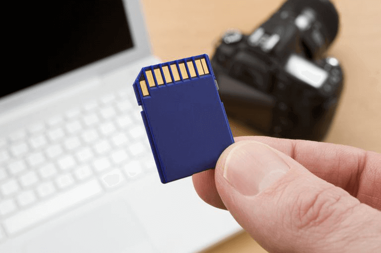 recover deleted photos from the blue sd card