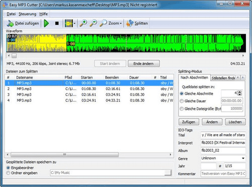 how to cut music with easy mp3 cutter