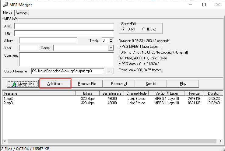 add files inmp3 merger