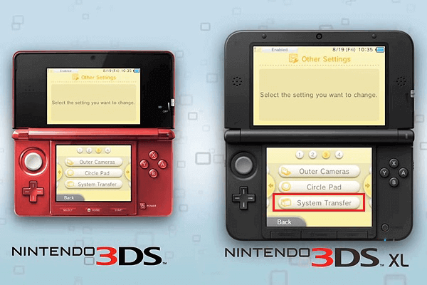 tap system transfer to transfer 3ds sd card data