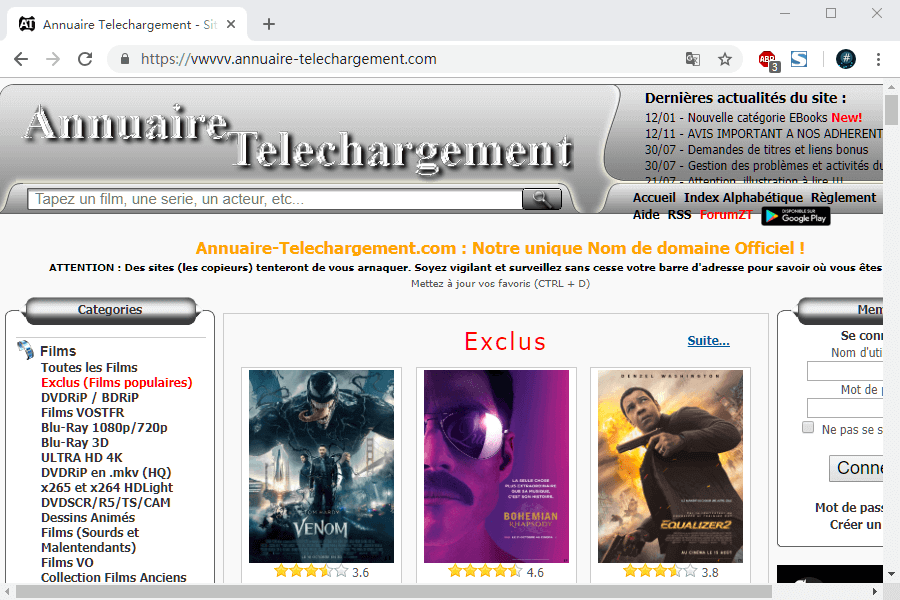 download 4k movies from annuaire telechargement