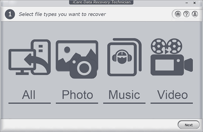 use icare to recover data from micro sd card