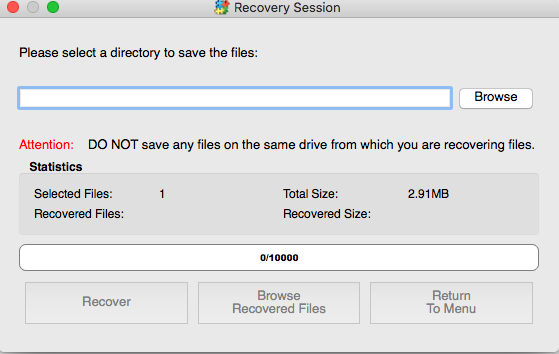 click to recover files in whole partition in renee undeleter on mac