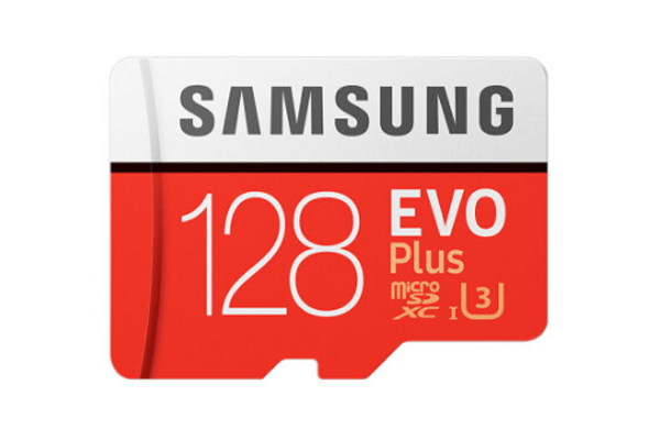 best sd card for security camera is samsung 128gn micro sdxc evo plus