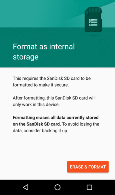 erase and format sd card