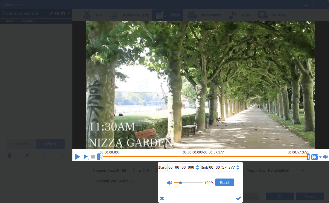 use renee video editor pro to amplify the volume