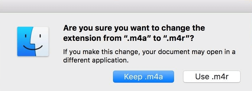 change the file extension from m4a to m4r