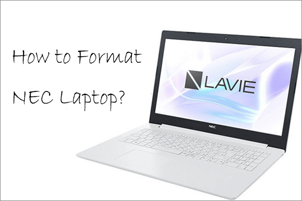 how to format nec laptop