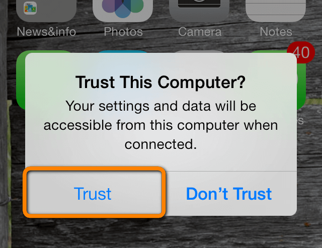 how to trust pc when iphone won't sync with itunes on pc