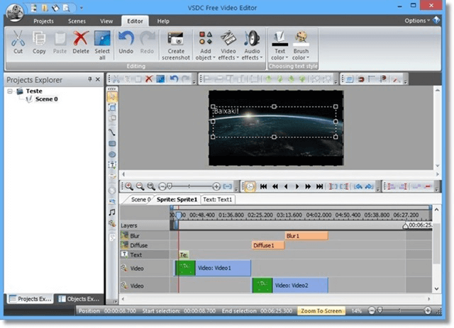 VSDC Free Video Editor is a video format converter