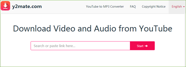 convert online youtube video to mp3 on y2mate