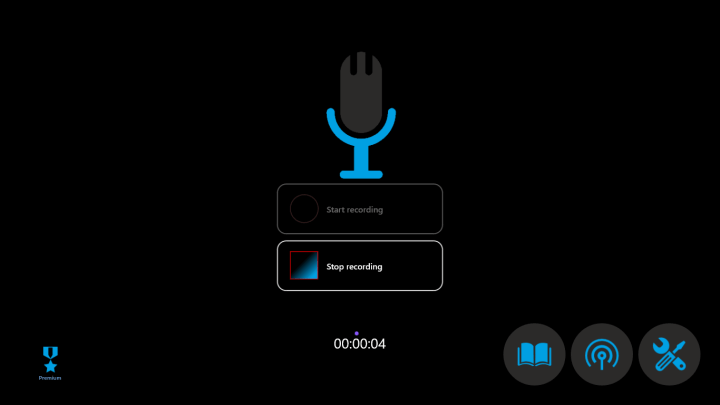 use easy sound recorder to record audios