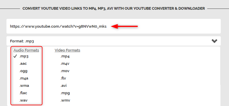 how to download music from youtube by online video converter