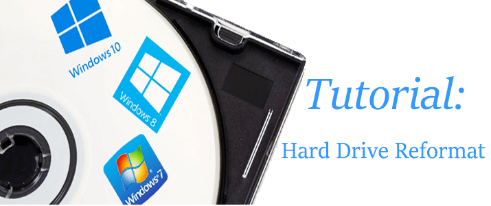 how to reformat a hard drive on windows 10