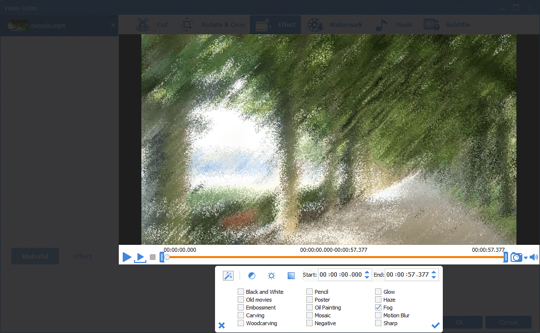 add video effects on the target video with renee video editor pro