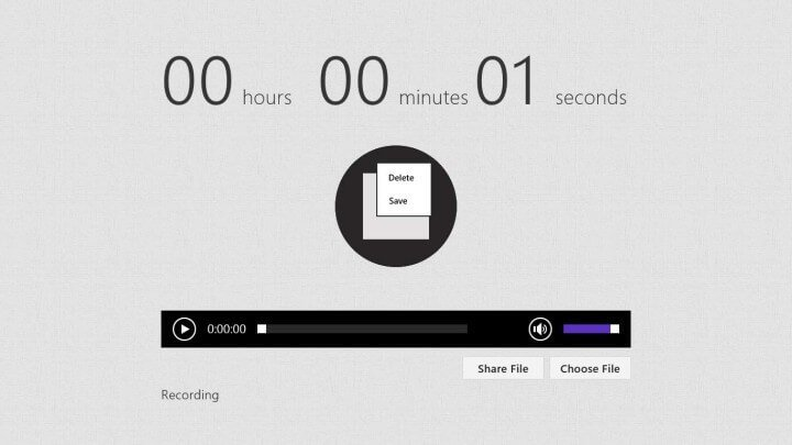 use voice record as an audio recorder
