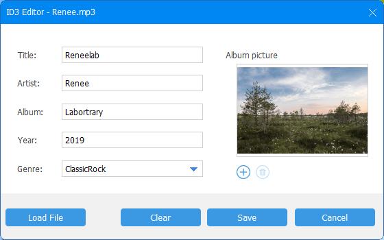 add album inforamtion in id3 editor
