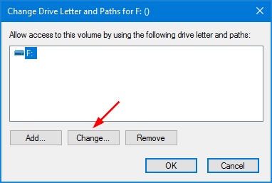 click to change a letter for the disk