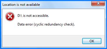 cyclic redundancy check data error