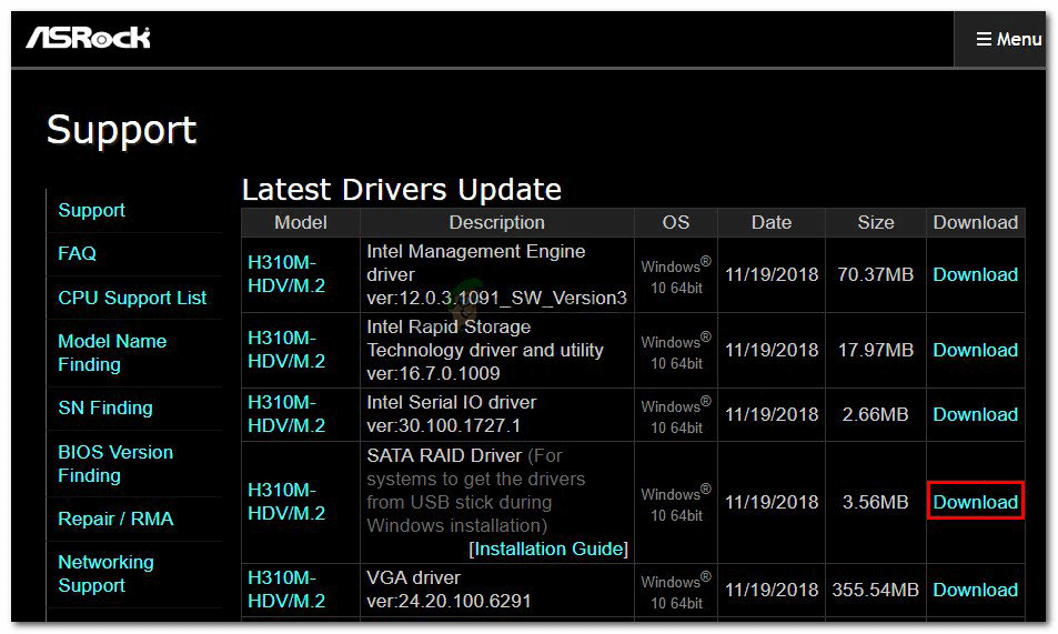 update the controller driver if the hard drive is not showing up