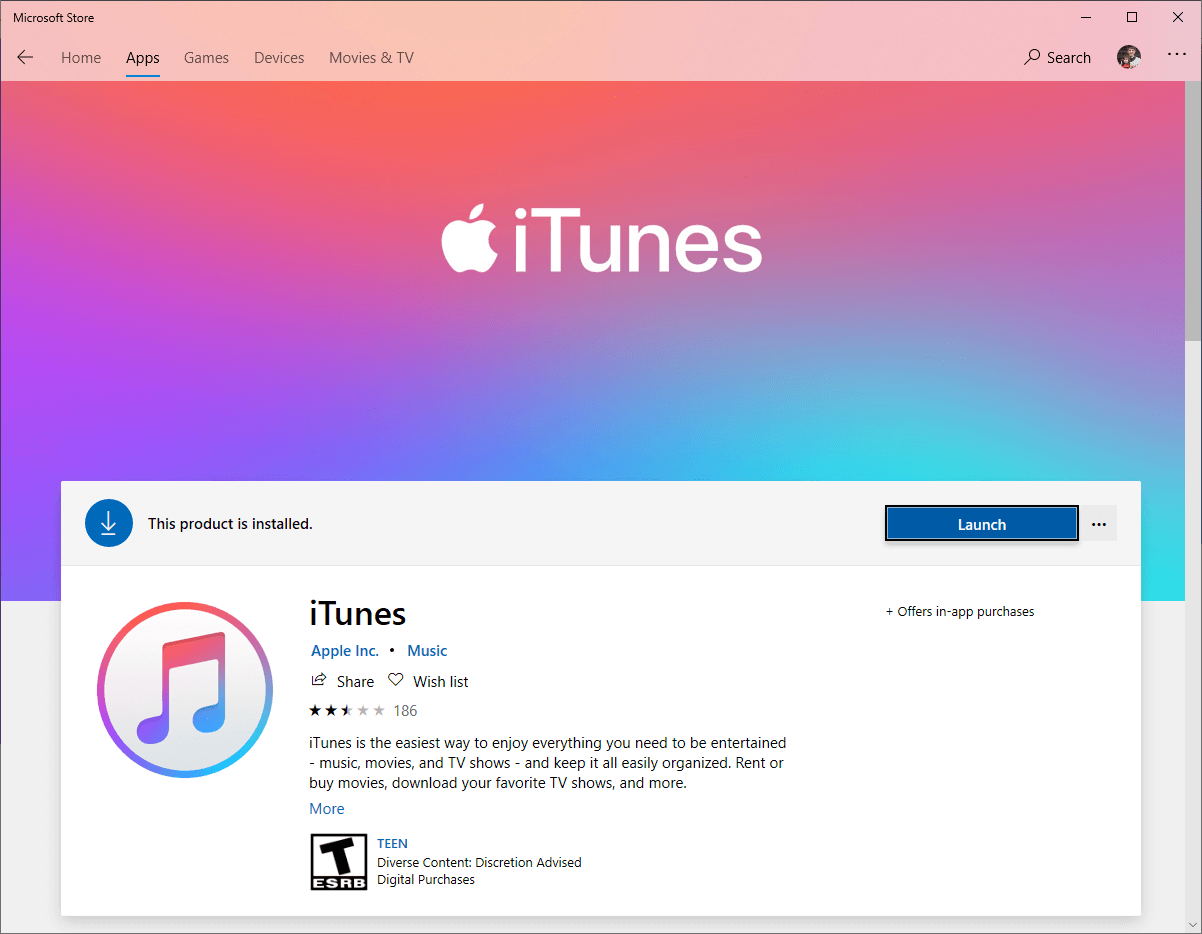 launch the downloaded itunes