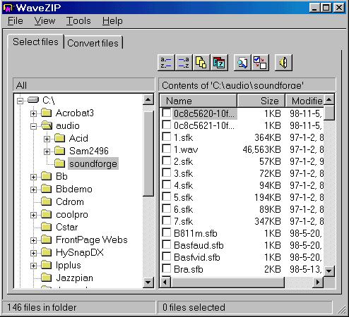 install and open wavezip